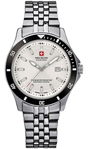 SWISS MILITARY-HANOWA Damen Analog Quarz Uhr mit Edelstahl Armband 06-7161.2.04.001.07