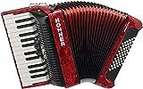 Hohner Bravo III 48 Akkordeon rot (Pianoakkordeon, 48-Bässe, 2-Chöre, 2 Register, inkl....