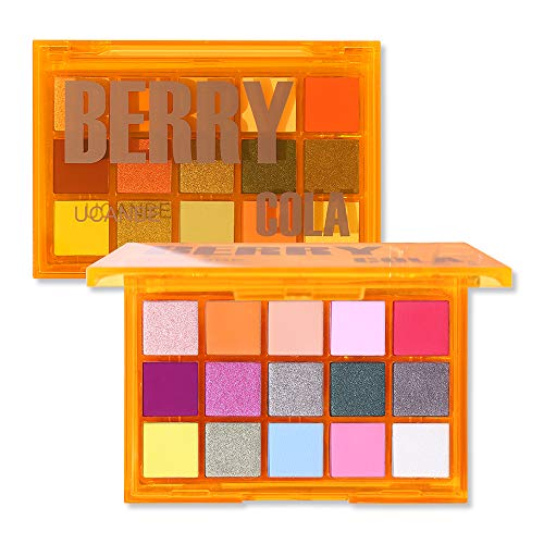 UCANBE Colorful 15 Shades Eyeshadow Makeup Palette,Shimmer Matte Metallic High Pigmented Neutral Bold Waterproof Eyes Shadow, Creamy Blendable Make Up Pallet Set (Berry Cola)