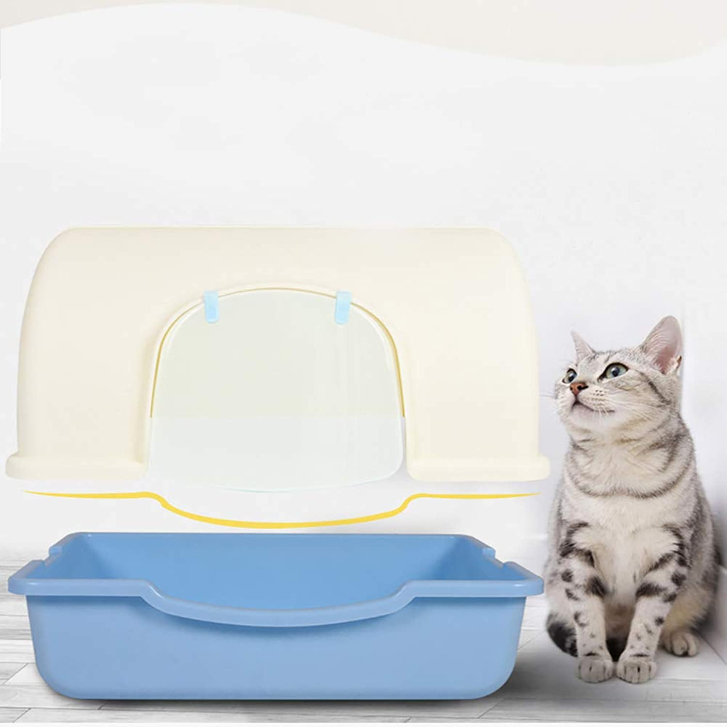 JYY Hooded Cat Litter Box, Easy Clean Fully Enclosed Cat Toilet, Easy To Clean Toilet For Your Cat