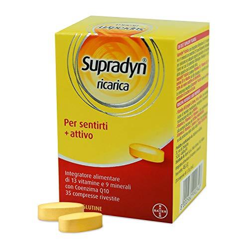 Supradyn Ricarica - Integratore Multivitaminico con Vitamine B ad Alto Dosaggio Contro Stanchezza Fisica e Affaticamento - 35 Compresse Deglutibili
