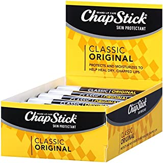 ChapStick Classic (1 Box of 12 Sticks, 12 Total Sticks, Original Flavor) Skin Protectant Flavored Lip Balm Tube, 0.15 Ounce Each