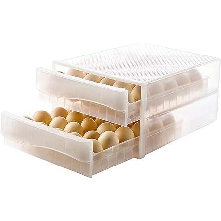 1 Paquet Szaerfa Porte-Oeufs pour r/éfrig/érateur Blanc bo/îte de Rangement en Plastique empilable pour Oeufs Plateau /à Oeufs avec couvercles Distributeur Transparent pour 30 Oeufs