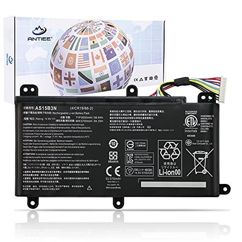 ANTIEE AS15B3N Laptop Battery for Acer Predator 15 G9-591 G9-591G G9-592 G9-592G G9-593 Predator 17 G5-793 G9-791 G9-791G G9-792 G9-792G G9-793 Predator 17X GX-791 GX-792 21X GX21-71 G9000 4ICR19/66-2