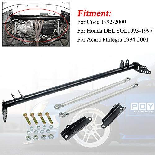 PQY Front Traction Control Tie Bar Set Compatible with 92-00 Honda Civic Del Sol EK EG EH EJ EM 94-01 Acura Integra DC