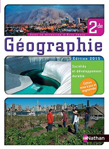 Géographie 2nde - Sociétés et développement durable - Livre de l'élève