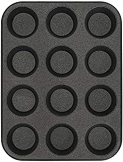 G & S Metal Products Company Non-Stick ProBake Teflon Xtra Nonstick Muffin Baking Pan, 12-Cup, Gray