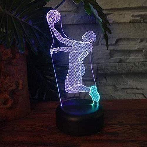 FUTYE 3D noche luz táctil interruptor baloncesto jugador led noche luz Navidad decoración luces 3D luces niños juguetes