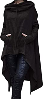 Irregular Hood Sweatshirt for Women Casual Pullover Blouse Hooded Ladies Long Tops