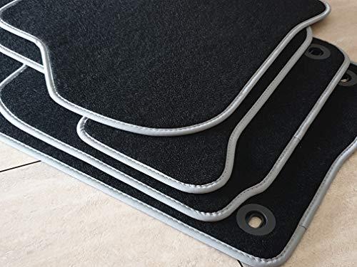 Komet Fußmatte für Phaeton Langer Radst. ab 01.03 (9564) ohne Feuerlöscher Velours Automatte Original Qualität mit silberner Nubukeinfassung