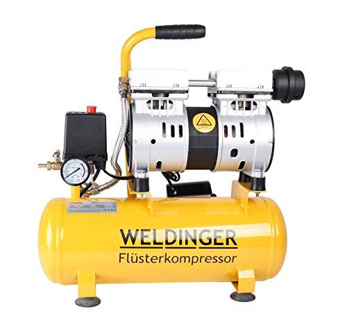 WELDINGER Flüsterkompressor FK 60 plus ölfrei 750 W Luftabgabe 90 l (Druckluftkompressor)