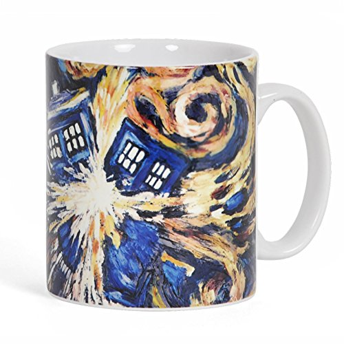 Elbenwald Doctor Who Exploding Tardis Tasse Keramik bunt 320 ml