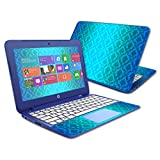 Mightyskins Skin Compatible with Hp Stream 13' Laptop Cover Wrap Sticker Skins Blue Vintage