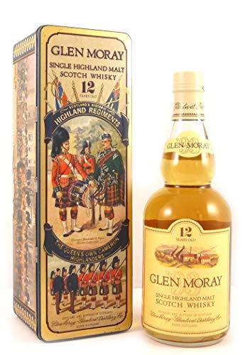 Glen Moray Single Highland Scotch Whisky 12 Year Old Tin Presentation The Queen's Own Cameron Highlanders in einer Geschenkbox, da zu 4 Wein Accessoires, 1 x 700ml
