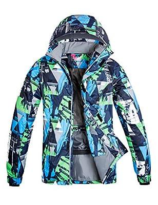 WILD SNOW Men's Ski Jacket Suit Cloth Waterproof Windproof Warm Winter Mountain Jacket Outdoor Jacket for Hiking Snowboarding Cycling