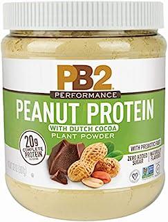 PB2 Performance Peanut Protein Powder with Dutch Cocoa – [2 lb/32 oz Jar] – 20g of Vegan Plant Based Protein Powder, Non G...