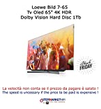 'LOEWE Bild 7.65 TV OLED 65 4 K Ultra HD Hdr Dolby Vision Disque dur 1TB