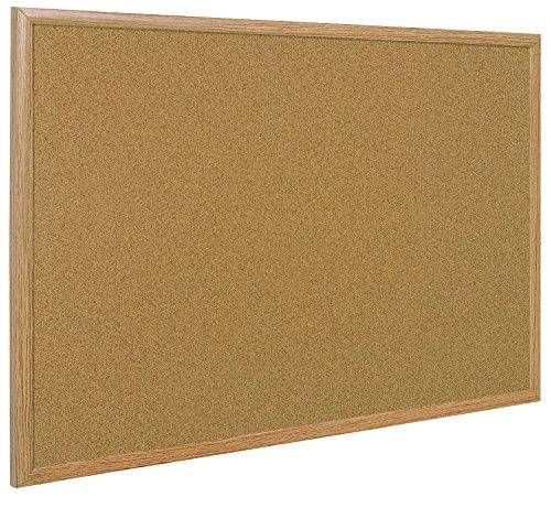 Bi-Office Earth - kurkbord met Executive MDF frame, eiken, milieuvriendelijk prikbord met natuurlijke kurklaag, 60 x 45 cm