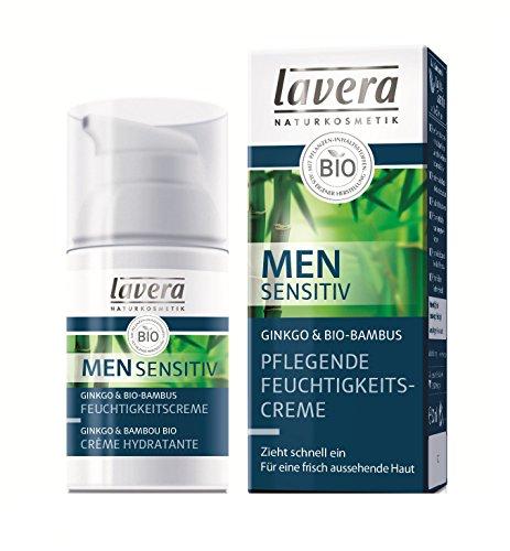 lavera Pflegende Feuchtigkeitscreme Men sensitiv, Frisches und gepflegtes Aussehen, Gesichtspflege für Männer, Natural und innovative, Gesichtspflege 1er Pack (1 x 30 ml)