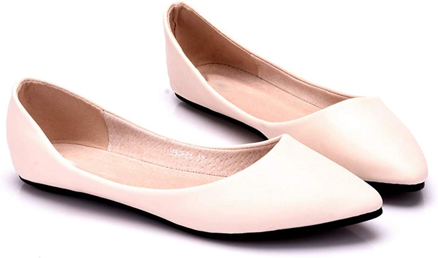 Women Flats shoes Solid color Pointed Toe Comfortable Ballet Flats shoes