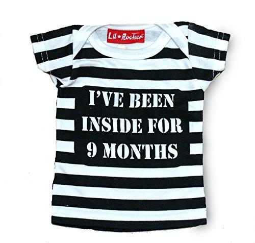 Been Inside 9 Months Baby T-Shirt size 0/6 mths