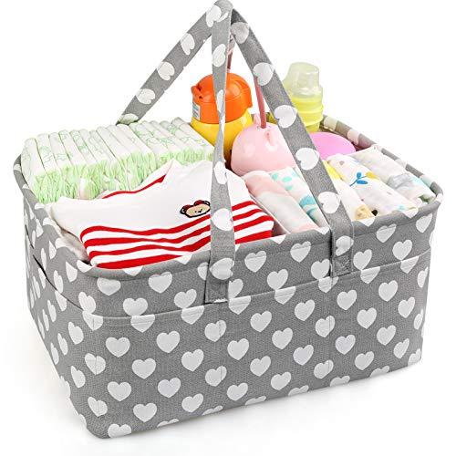 LEADSTAR Wickeltisch Organizer,Neugeborenen Geschenk,Baby Windel Organizer für Windeln,Baby Tücher,Kid Spielzeug,Baby Organizer mit Abnehmbarem Teiler 10 unsichtbaren Taschen