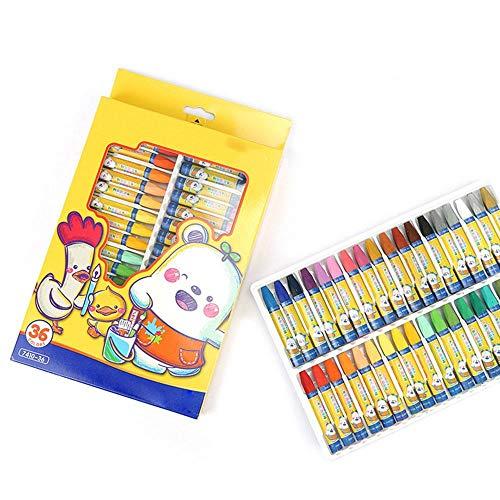 Venta caliente de 36 colores de cera Crayon nios pintura al leo palo de color caramelo aceite pastel crayn seguridad infantil pastel no txico pastel