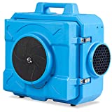 COSTWAY Industrial Commercial Air Scrubber, Heavy Duty Air Purifier, Air Machine for Water Damage Restoration Fire Disaster Interior Decoration, Air Filtration System Air Cleaner (Blue)