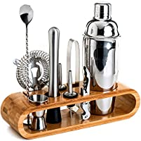 BRITOR Bartender Kit,Bar Set Cocktail Shaker Set,10-Piece Bar Tool Set with Stylish Bamboo Stand - Perfect Home...