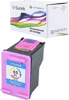 V-Surink Remanufactured Ink Cartridge Replacement for Hp 65XL (1 Color) Compatible with AMP 100 120 125 130 Envy 5010 5020 5030 5055 5052 5058 Desk Jet 3755 2655 3720 3722 3752 3758 2652 2624 Printer