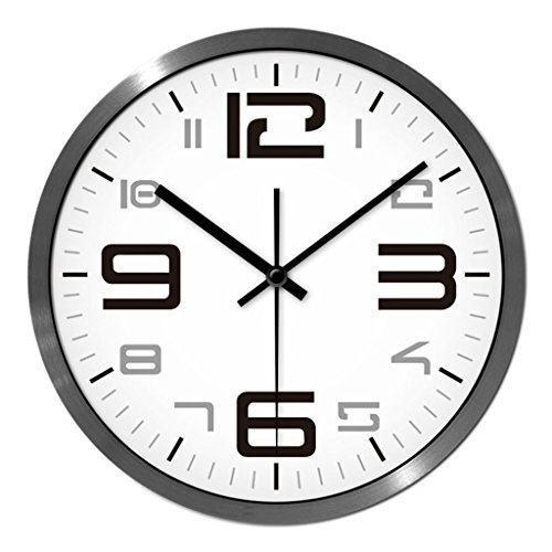Personnalisé mode d'horloge murale salon chambre à coucher créative quartz montres moderne minimaliste muet avec grande horloge (Couleur : # 2, taille : 35cm)