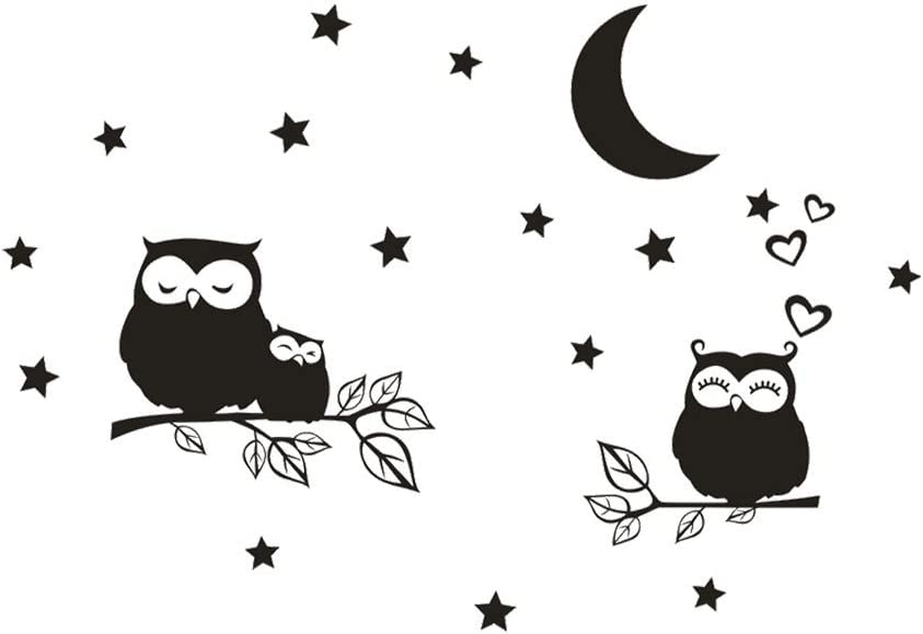 RYGHEWE Wall Stickers for Living Room Decor Owl Cute - Entrywa New Free Shipping Inexpensive