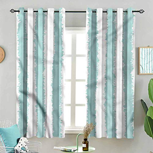Dasnh Blackout Window Curtain Set Sketchy Grunge Stripes W72 x L45 Inch (2 Panels) Indoor Decoration