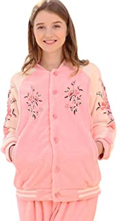 Pajamas Pregnant Women Pink Coral Fleece Nightwear Embroidered Printed Baseball Uniform Pregnancy Homedressing Pregnant Wo...