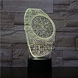 Fläche Armbanduhr Form Berührungsschalter Baby Schlaf Kreative USB 3D Nachtlicht Lampe Für Wohnkultur 3D
