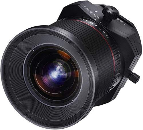Samyang F1110909101 - Objetivo fotográfico DSLR para Micro Cuatro Tercios (Distancia Focal Fija 24mm, Apertura f/3.5-22 T/S ED AS UMC, diámetro Filtro: 82mm), Negro