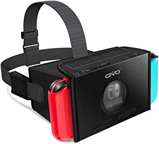 OIVO VRゴーグル スイッチVR メガネ3D ゲーム 映画 動画 放熱良い VRグラス Nintendo Switch対応 VRボックス 固定ヘッドバンド付 マリオ・ゼルダ対応 EVE 黒