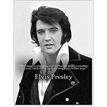 Elvis Presley Live up to an Image Quote Wall Art Poster