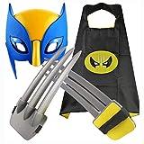 Niños Wolverine Claws Juguete Seguro ABS Plástico Wolf Paw Máscara Capa Película Juego de Roles X-Men Logan Accesorios de Disfraces Cosplay Juguete Adulto Niño niño Cumpleaños