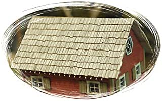 Bar Mills HO Scale Laser-Cut Shingles, Weathered Gray