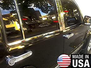Made in USA! Works with 2008-2017 Jeep Liberty 6PC Stainless Steel Chrome Pillar Post Trim