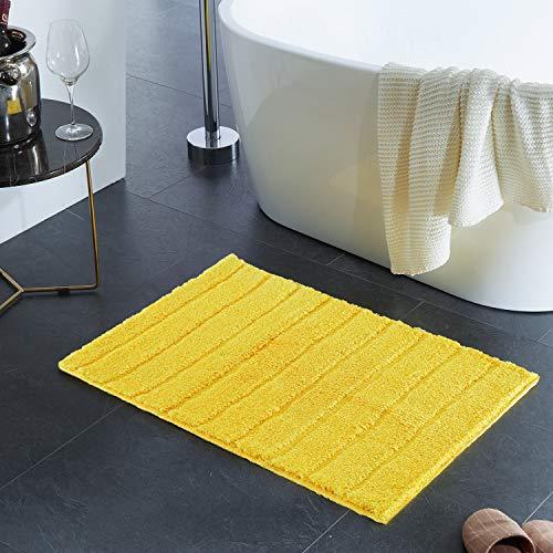 Alfombra de baño amarilla antideslizante