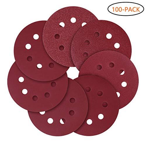 "6"" Film Sanding Discs No Holes Hook/&Loop 100 Pcs Ideal for Car Repair Grit P800"
