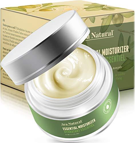 Vegane Tagescreme Naturkosmetik Gesichtscreme - Anti Aging Gesicht Creme Anti Falten Gesichtspflege Skin Care Feuchtigkeitscreme für trockene Haut (Neues Design)