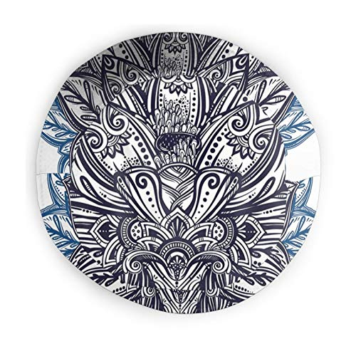Fisherman Senderismo Sombrero De Ala Ancha,Étnico Pétalos De Paisley Temed Flor De Loto Etnico Boho Tatuaje Ilustración