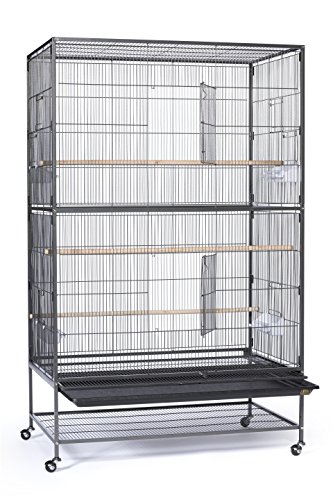 Product Image 1: Prevue Hendryx F050 Pet Products Wrought Iron Flight Cage, X-Large, Hammertone Black