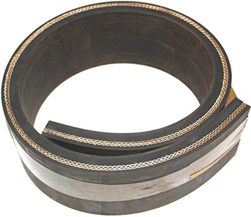 1500mm x 100mm x 15mm Gummistreifen mit Gewebe Gummi-Matte-Platte Vollgummi Schürfleiste Hartgummi