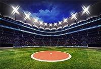 新しい250x180cmの遊び場の写真の背景スポットライト付きの屋根の下にファンがいる野球場スポットライトの写真大人の芸術的な肖像画写真撮影小道具写真の背景