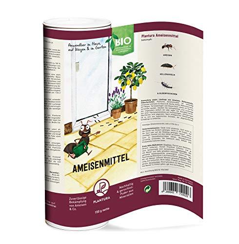 Plantura Bio-Ameisenmittel, zuverlässige Bekämpfung von Ameisen & Co. wirkt biologisch & giftfrei, Pulver anwendbar im Haus, auf Wegen und im Garten, 150g Dose…