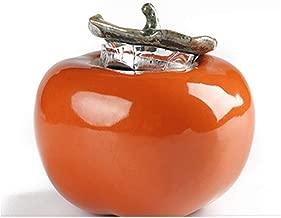 MYQXAZ Pet Casket Pet Urn, Close Relatives and Dear Pet Pet Cremation Urn Souvenir Elite Flower, Orange